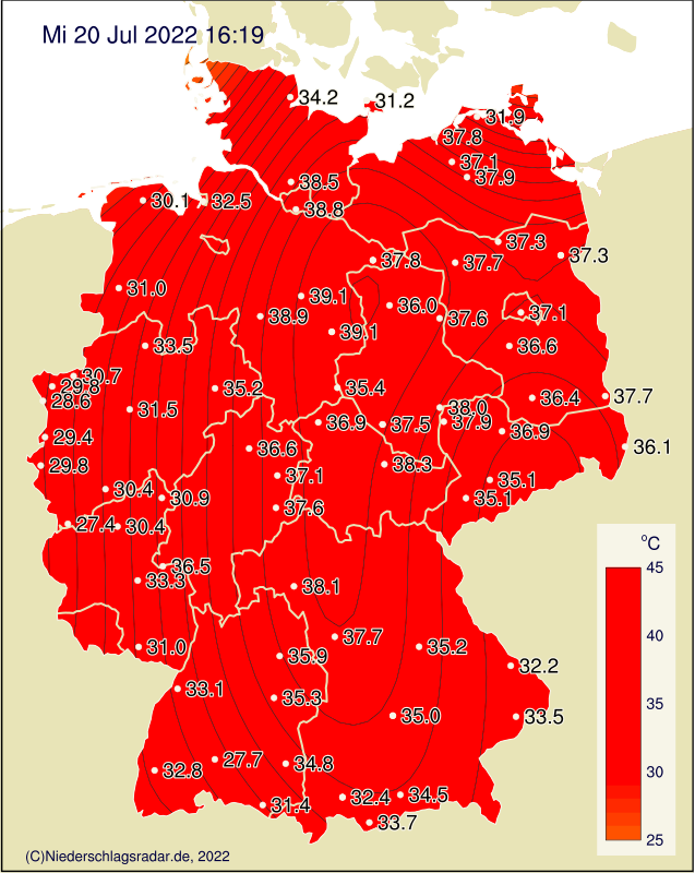 Unwetterwarnung Marburg Biedenkopf