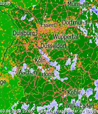 Niederschlagsradar Deutschland Vorhersage