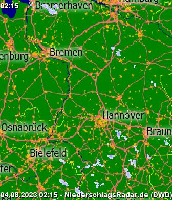 Niederschlagsradarde Aktuelles Niederschlagsradar Deutschland